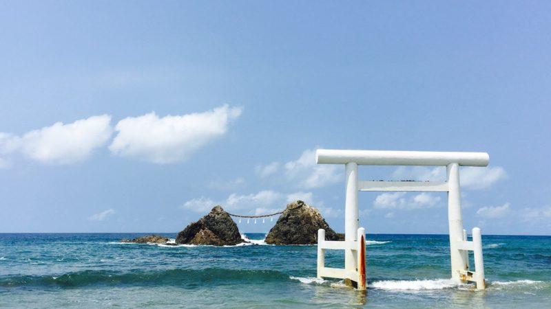 【3位】 桜井二見ヶ浦の夫婦岩